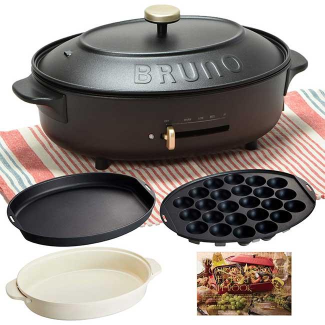BRUNO 多功能電烤盤 crassy+ BOE053 鑄鐵 無煙 烤盤 生鐵鍋 日本熱銷 日本代購