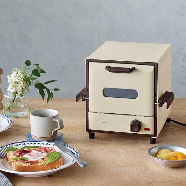 recolte 日本麗克特 Delicat 電烤箱 簡約白 RSR-1 W 日本代購