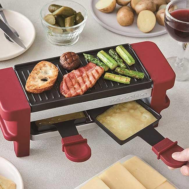 Recolt 迷你煎烤盤 多功能烤盤 RRF-1-R 紅色 日本代購 日本