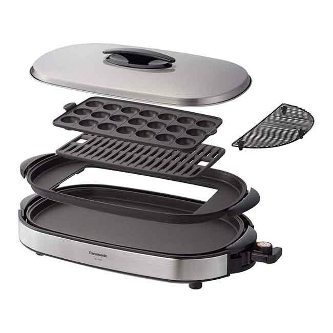Panasonic 國際牌 NF-W300 多功能電烤盤 鐵板燒 燒肉 章魚燒 銀色 日本代購