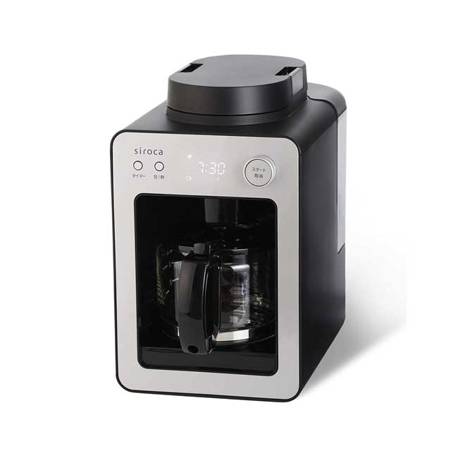 Siroca SC-A351 全自動 咖啡機 磨豆 研磨 4杯分 30分保溫 附玻璃壺 日本代購